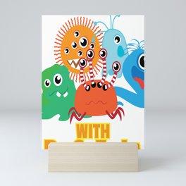 Bacteria Play With Bacteria Microbiology Mini Art Print