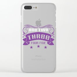 Cute and adorable numbers themed tee design perfect for gifts this holiday season! Go get it now!  Clear iPhone Case