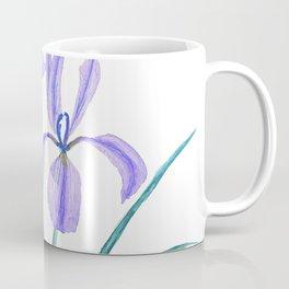 vintage purple iris watercolor Coffee Mug