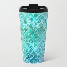 Pattern bluegreen Travel Mug