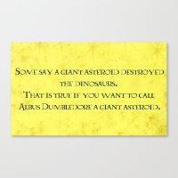 dumbledore Canvas Prints featuring Albus Dumbledore Quotes  by Cats. Comics. Curves.