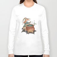 witch Long Sleeve T-shirts featuring Witch by Catru