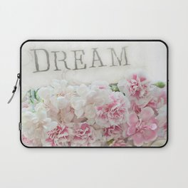 Dreamy Pink Roses Floral Print - Romantic Shabby Chic Dream Floral Home Decor Laptop Sleeve