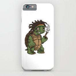 Weed Smoking Turtle | Cannabis THC CBD Rasta iPhone Case