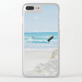 Beach Play Clear iPhone Case