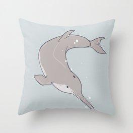 Baiji Dolphin Throw Pillow