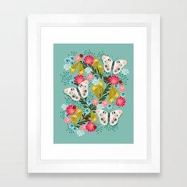 Buckeye Butterly Florals by Andrea Lauren  Framed Art Print