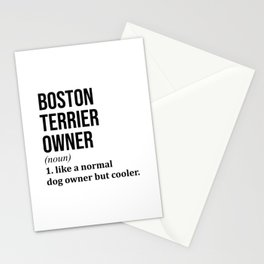 Boston Terrier Dog Funny Stationery Cards