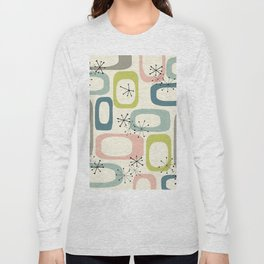 Mid Century Modern Shapes #society6 #buyart Long Sleeve T-shirt