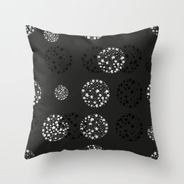 Hand drawn doodle stars and dots active wear decorative pattern Throw Pillow