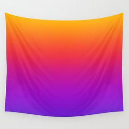 Colorful Gradient Pattern Neon Abstract Rainbow Wall Tapestry