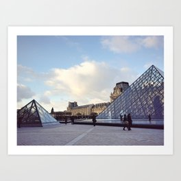 Louvre In Autumn Art Print