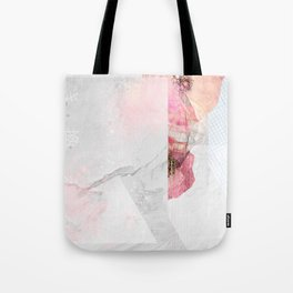 Floral Erosion Tote Bag