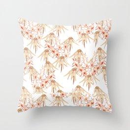 Seedpod heads Throw Pillow