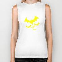 bat Biker Tanks featuring Bat by Spooky Dooky
