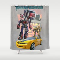 optimus prime Shower Curtains featuring Transformers autobot bumblebee optimus prime truck best for birthday and Christmas gift by customgift