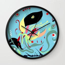 The Hungry Flower Wall Clock