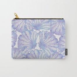 Shell Ya Later - Purple Seashell Pattern Carry-All Pouch