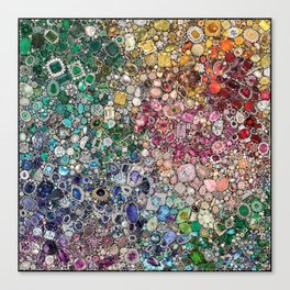 Diamonds, Jewels, (Gems & The Hologram) Canvas Print