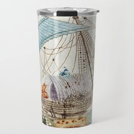 Chinoiserie Embroidery Travel Mug