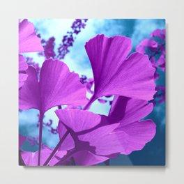 purple ginkgo tree VI Metal Print