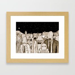 Innsmouth Meeting Framed Art Print