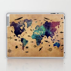 World map atlas Laptop & iPad Skin