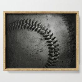 Black and white Baseball Serving Tray