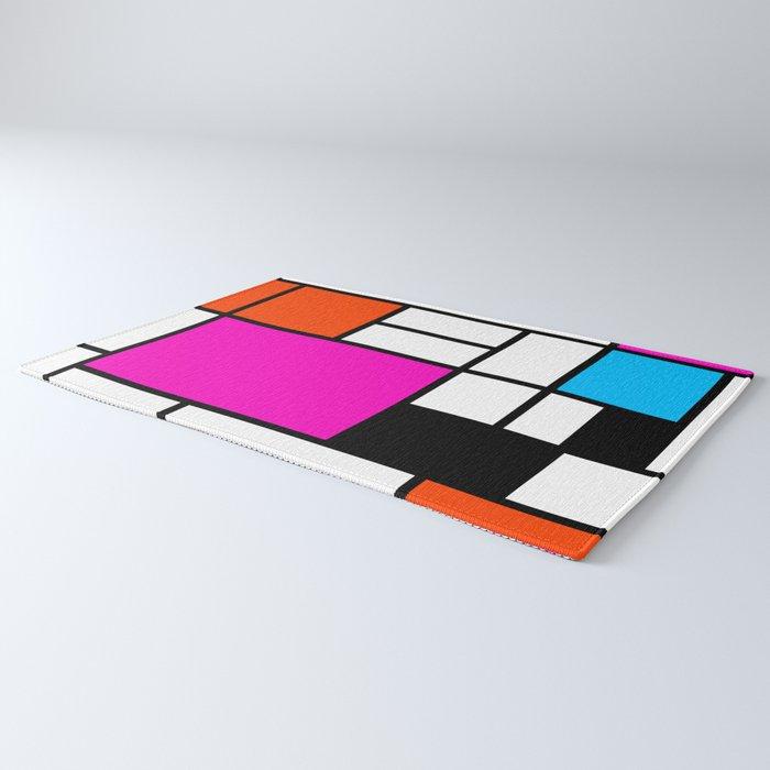 Mondrian Pink Rug