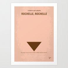 No354 My Rochelle Rochelle minimal movie poster Art Print