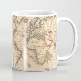 Vintage Map of the World (1850) Coffee Mug