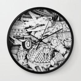 Crocodile Gamblin' Man Wall Clock