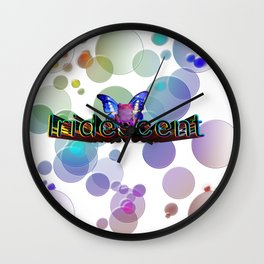Iridescent Bokeh Wall Clock