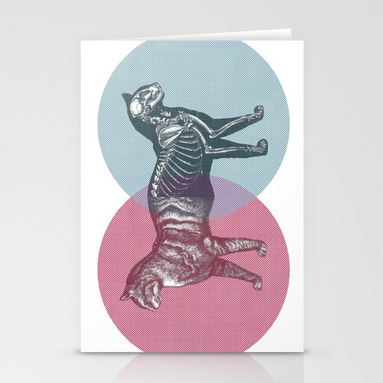 In which the cat is dead and alive Stationery Cards