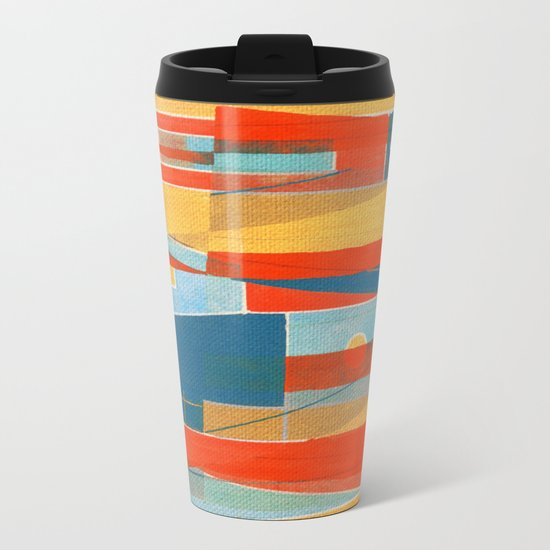 Fish Duel Metal Travel Mug
