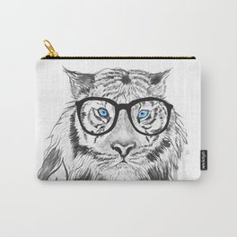 Tiger with glasses Carry-All Pouch