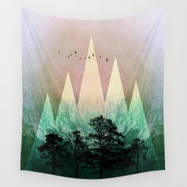 TREES under MAGIC MOUNTAINS IV Wall Tapestry