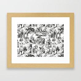 Alice in Wonderland   Toile de Jouy   Black and White Gerahmter Kunstdruck