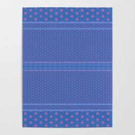 Blue Pink Delicate Patterns Poster