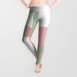 Mid-Century Modern in Pink, Mint and Mustard Pattern Leggings