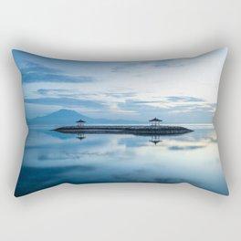 Blue sunrise in Sanur, Bali island Rectangular Pillow