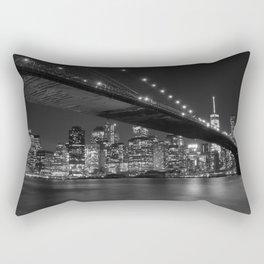 Brooklyn Bridg at night Rectangular Pillow