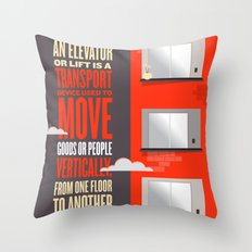 Elevator - Illustrated Wikipedia Throw Pillow