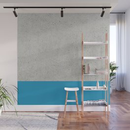 Concrete Blue Wall Mural