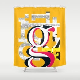 illuminated [ from slab back to humanist ] Shower Curtain