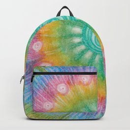 Tie Dye quilt square Backpack