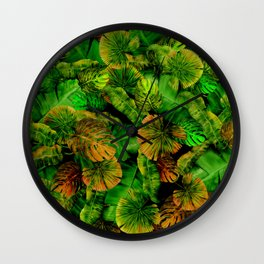 Tropical leaf random pattern painting iPhone 4 4s 5 5c 6 7, pillow case, mugs and tshirt Wall Clock