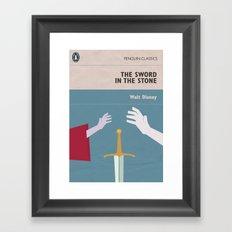 The Sword in the Stone - Movie Poster - Penguin Book version Framed Art Print
