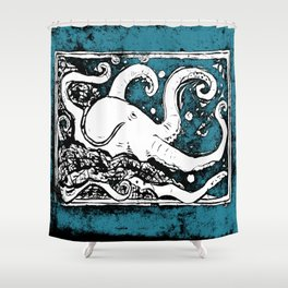 Shiny Metal Thing Octopus Shower Curtain