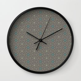 Going round and round - Orange/Taupe/Teal Wall Clock